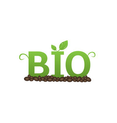 bio label set vector image