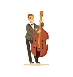 cellist man playing classical music on cello vector image vector image