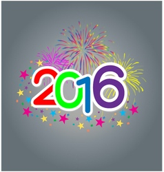 New year text vector image vector image