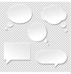 speech bubble big set vector image vector image