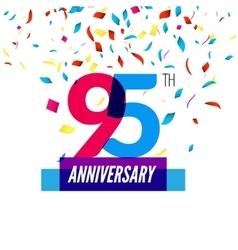 Anniversary design 95th icon anniversary vector image vector image