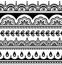 Indian seamless pattern design elements - Mehndi vector image vector image