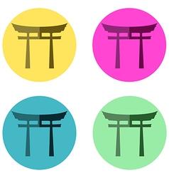 Japan Gate flat vector image vector image