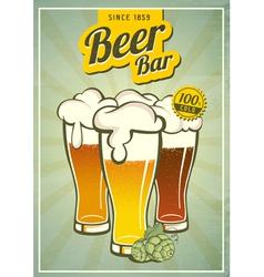 Vintage beer or brewery poster vector