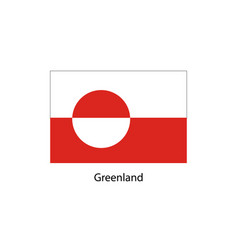 greenland flag official colors and proportion vector image