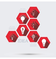 modern idea infographic background vector image