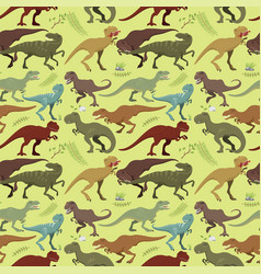 scary dinosaurs tyrannosaurus seamless vector image
