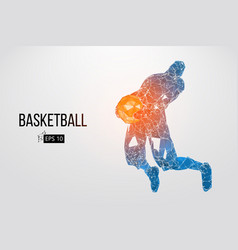 silhouette of a basketball player vector image