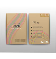 Abstract set of business card print template vector