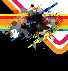 art abstract background design vector image