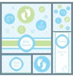 baby card set circles boy vector image vector image