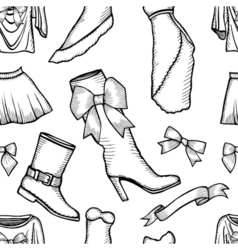 female fashion collection vector image vector image