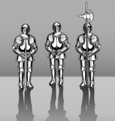 Knights in armor vector image vector image