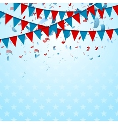 Party flags abstract usa background with confetti vector