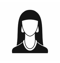 Woman icon simple style vector image