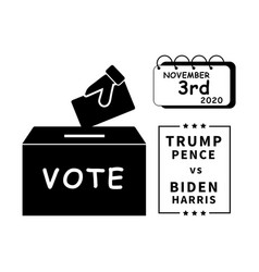 1328 vote trump pence vs biden harris november vector image