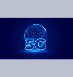 5g telecommunication technology digital vector image
