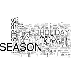 A three part plan to enjoy the festive season vector