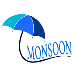 Abstract monsoon background vector