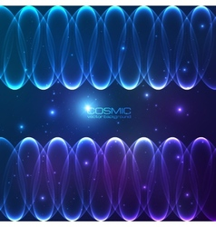 Abstract shining lines cosmic background vector image