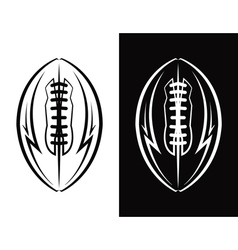 American Football Ball Emblem Icon vector