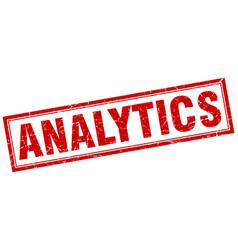 Analytics square stamp vector