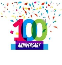 anniversary design 100th icon vector image