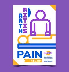 arthritis pain relief advertising banner vector image