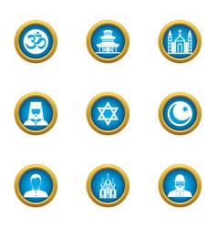 Assumption icons set flat style vector