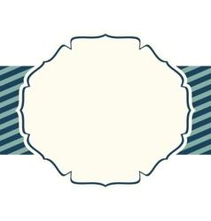 badge decorative ornament sripe empty vector image