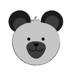 Bear or cute stuffed animal icon image vector