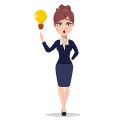 beautiful business woman in office style clothes vector image