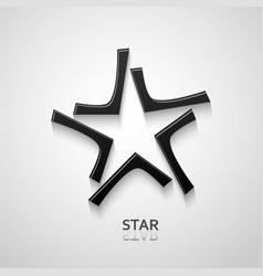 Black star logo design vector