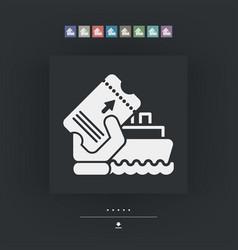 boat ticket vector image