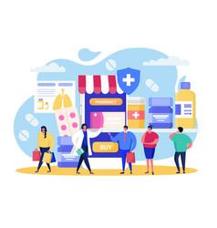 Buy in online pharmacy vector