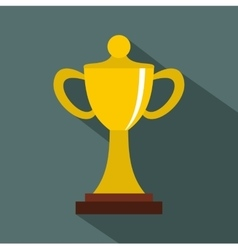 Championship cup icon flat style vector