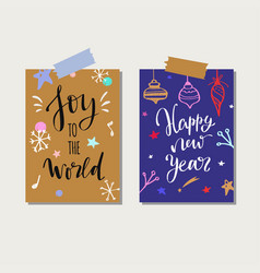 christmas and new year tags and labels vector image