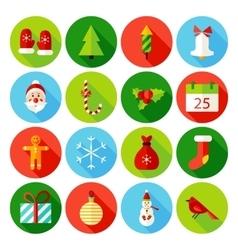 Christmas flat icons vector