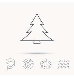 Christmas tree icon Forest or nature sign vector image