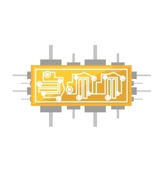 Circuit board electronic componet vector