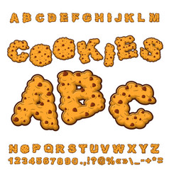 Cookies font food lettering edible typography vector