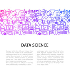data science line design template vector image
