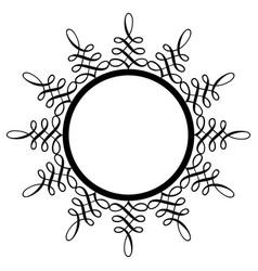 decorative round frame ancient art vector image