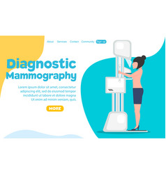 Diagnostic mammography banner vector