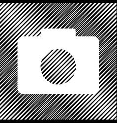 Digital camera sign icon hole in moire vector