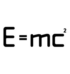 E mc squared energy formula physical law mc vector