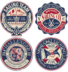 east coast yacht club sailing team vector image