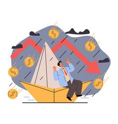 Economy recession financical crisis business vector