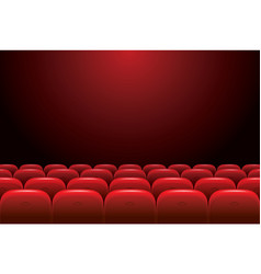 empty cinema with red seats on a dark background vector image