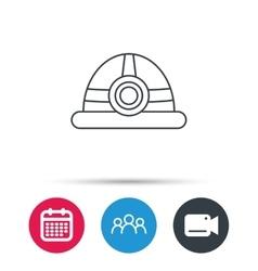 Engineering icon Engineer or worker helmet vector